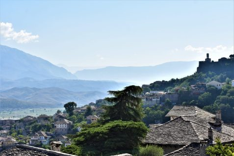 Gjirokastra, Albania, the historical town enlisted by UNESCO