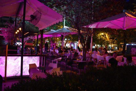 Lively nightlife in Tirana, Albania
