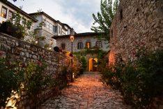 Quiet streets of the Berati castle