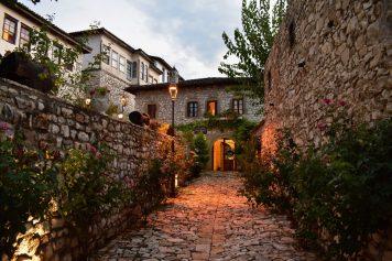 Quiet streets of the Berat castle