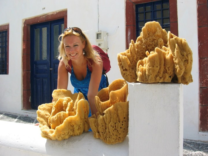 Shopping in Greece can be really exotic - natural sponge from the sea