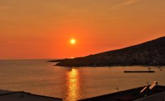Sunset over Saranda, Albania