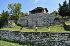 The area of Berat castle and one of its medieval churches