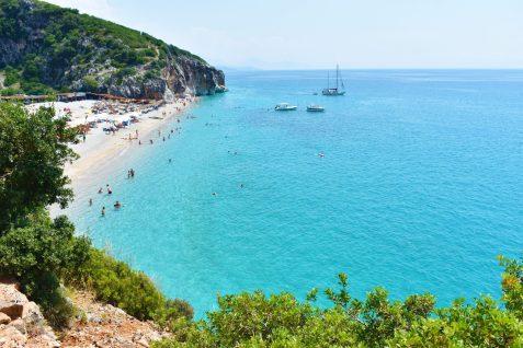 View of Gjipe beach, Albania