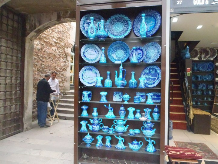 Traditional Iznik ceramics in the Grand Bazaar in Istanbul
