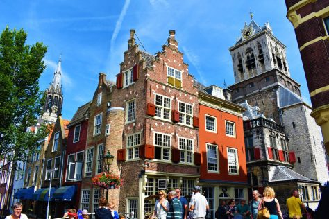 Historical buildings of Delft, the Netherlands
