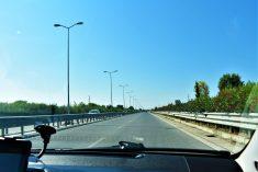 Carretera entre Tirana y Durrës
