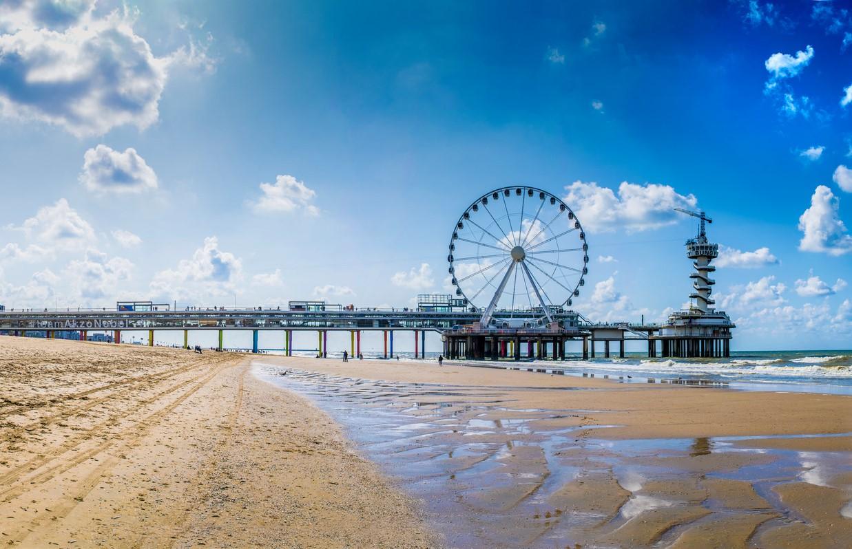 Scheveningen beach with its attractions