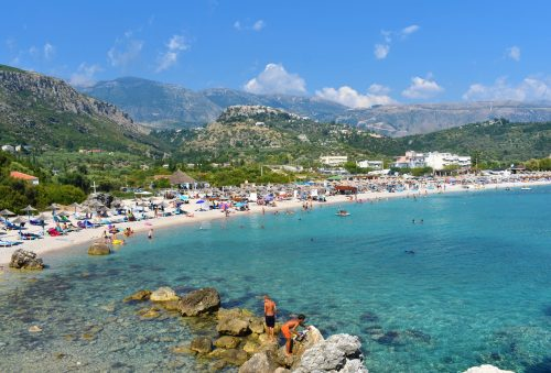 Is Albania safe? There are lots of activities for children in Livadhi beach, Albania