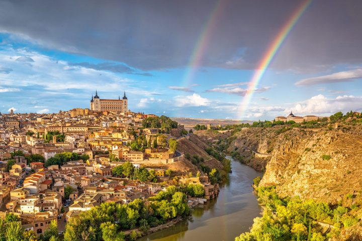Dreamy panorama of Toledo