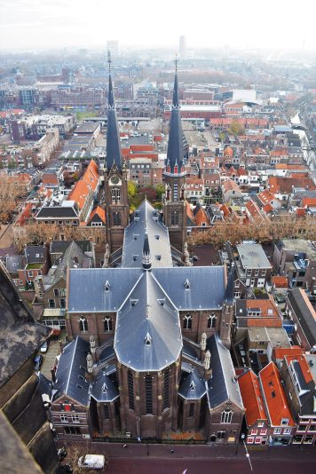 View from the New Church in Delft