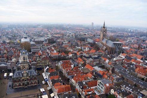 Vista desde la torre de la iglesia nueva de Delft