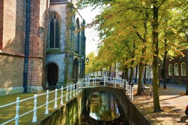 Walking around Delft