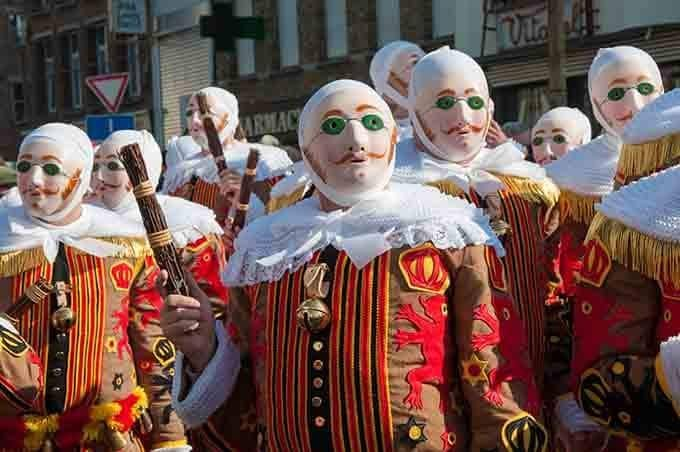 Gilles - masked men of Binche - Best Carnivals in Europe in 2020