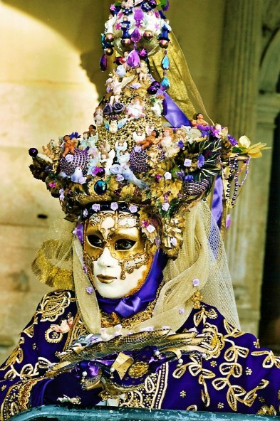 Venice carnival is famous for incredibly ornate mask and headwear
