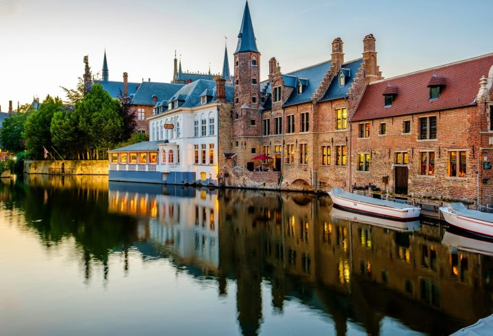 Charming buildings of Bruges