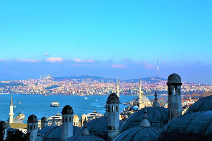 The hills of Istanbul and the mosques