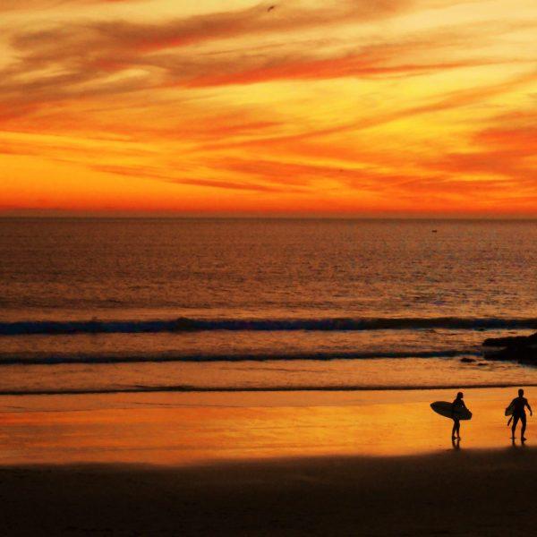 Costa da Caparica beach in Portugal