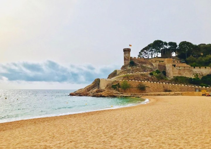 Perfect postcard view of the castle in Tossa de Mar in Catalonia, Spain