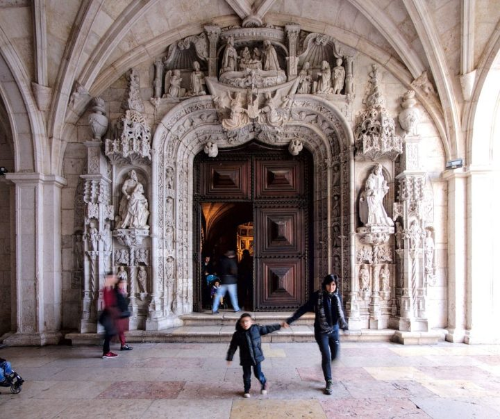 Entrance to the Church of Santa Maria de Belém in the Jeronimos Monastery