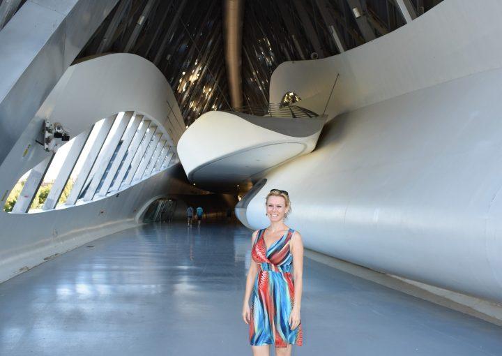 Passing through Zaragoza Bridge Pavilion by archistar Zaha Hadid feels like entering a spaceship