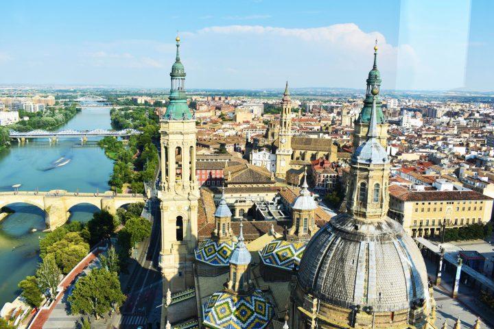 Spectacular view from the tower of Basilica del Pilar, Zaragoza, Spain - 11 reasons to visit Zaragoza