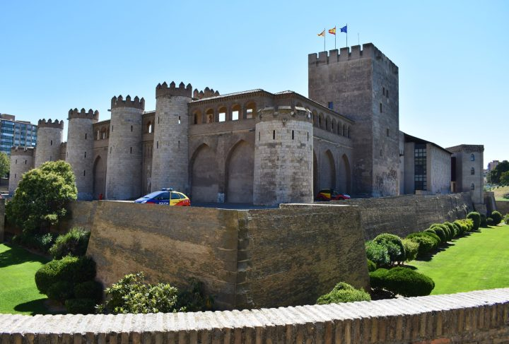 The imposing exterior of Aljafería palace in Zaragoza - the best of reasons to visit Zaragoza
