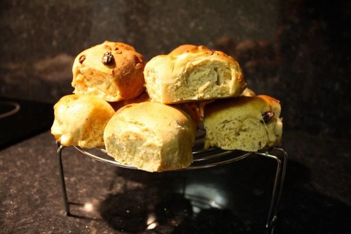 Czech Buchty - sweet dough pastries