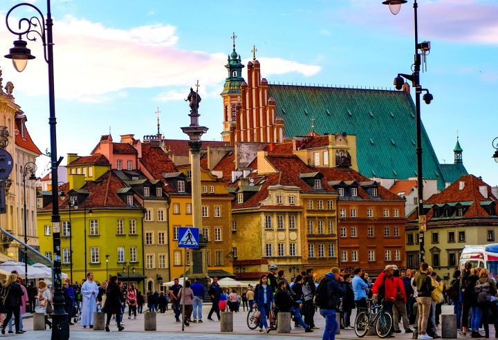 Colourful old town of Warsaw (UNESCO), the capital of Poland