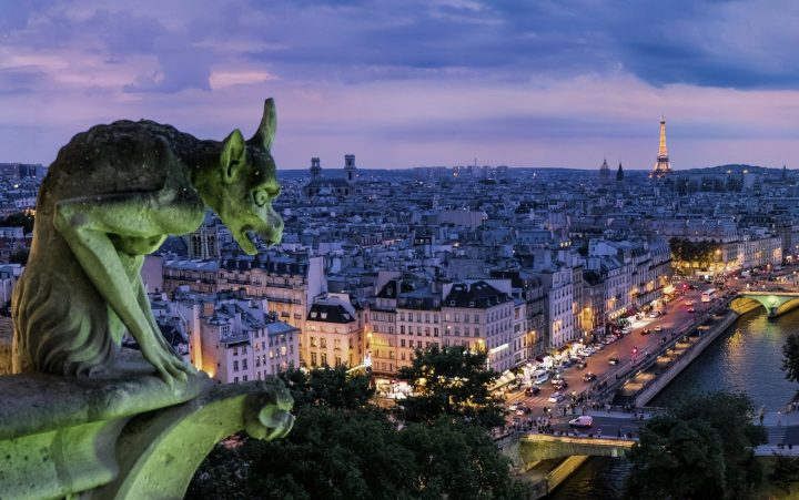 The City of Sin with its dazzling skyline - Paris seen from Notre Dame
