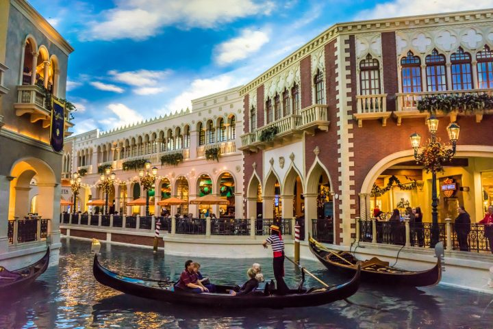Believe it or not, this is not Venice - it's the American imitation of the city