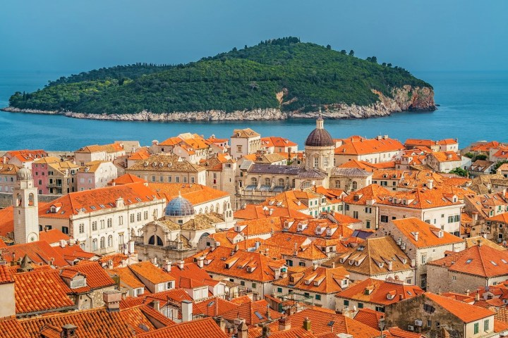 Perfect colour coordination - historical houses in Dubrovnik, the prettiest town of Croatia - Most Romantic Places in Europe for St Valentine's Day