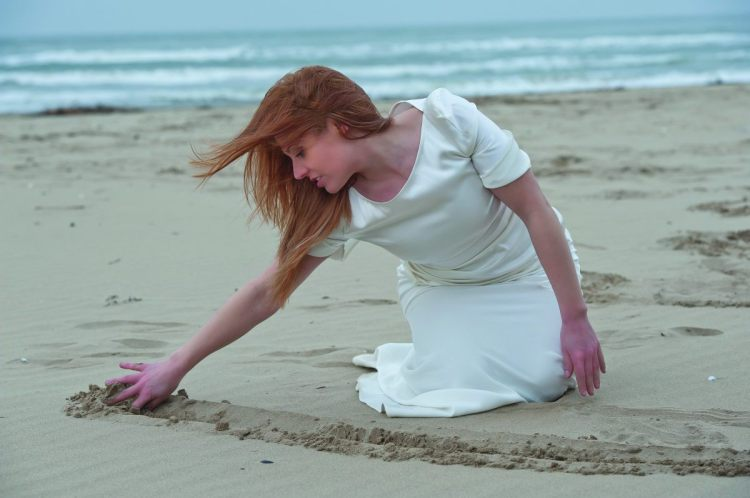 Valentina... écrit sur le sable