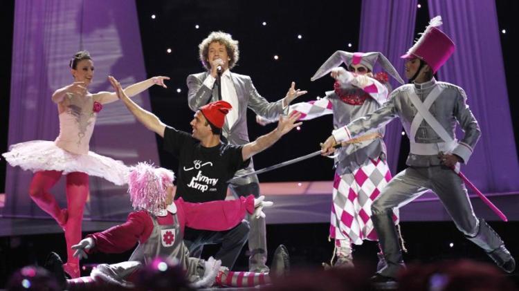 photo de Daniel Diges à l'Eurovision 2010