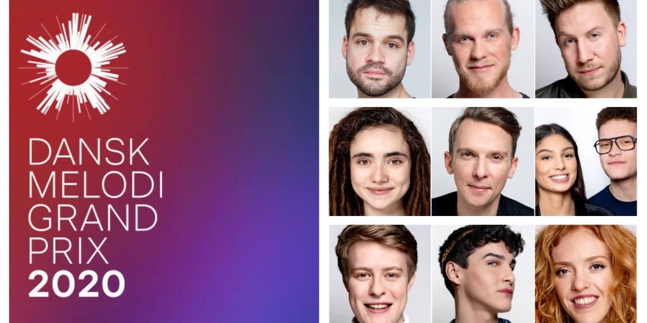Dansk Melodi Grand Prix 2020 : présentation des 9 demi-finalistes (Mise à jour : annonce des 3 qualifiés)
