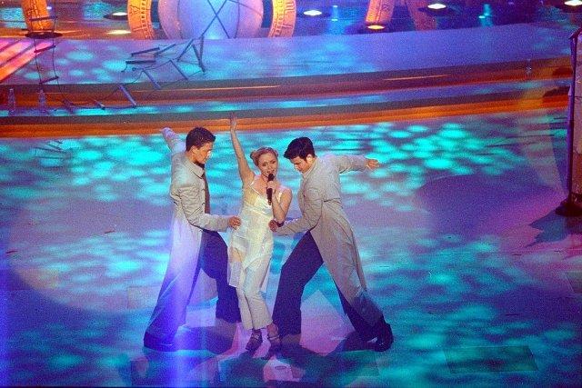 Islandia na Eurowizji: Selma podczas występu na Eurowizji 1999 w Jerozolimie (fot. Fases.is)
