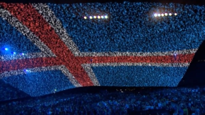 Kadr pocztówki islandzkiej z Eurowizji 2010