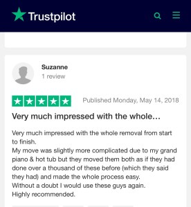 Removals reviews