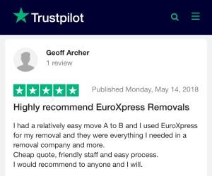 Removals reviews trust pilot