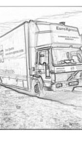 euroxpress truck sketch
