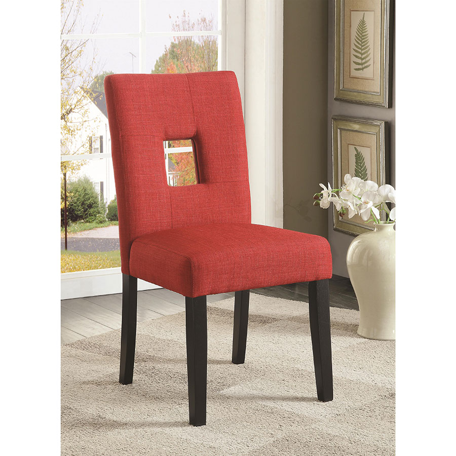 Red Upholstered Dining Chairs Alyssa Dining Chair Red Set Of 2