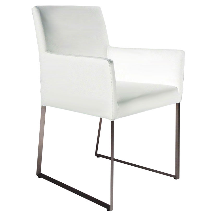 White Dining Chairs Tobias Arm Chair White