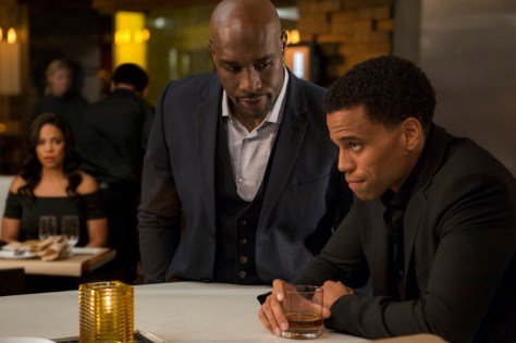 Sanaa Lathan, Morris Chestnut and Michael Ealy in PERFECT GUY confrontation.