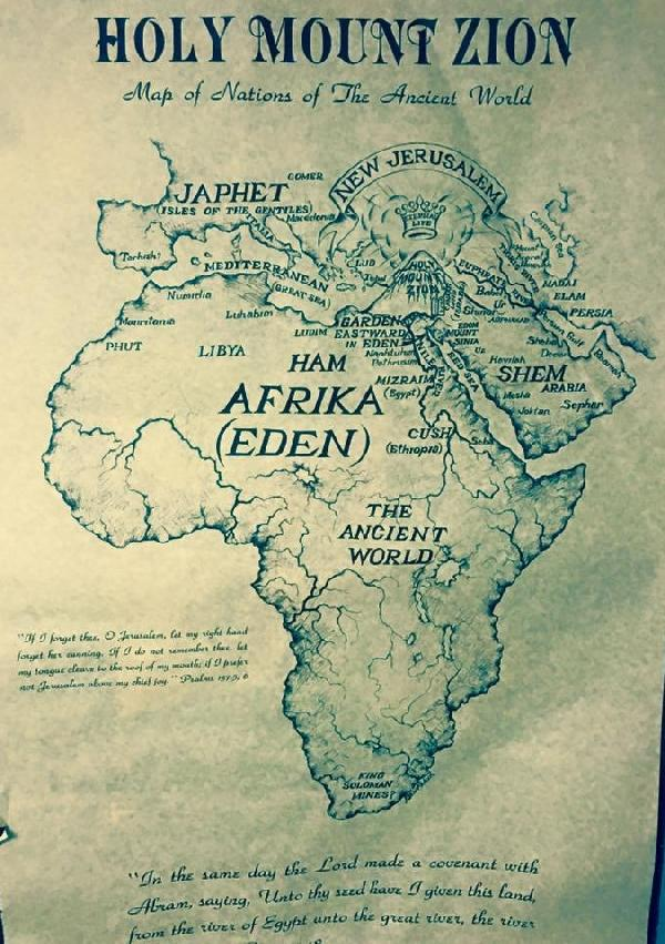 Ancient Map of Eden