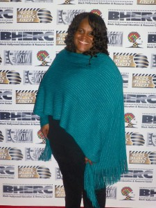 Pictured: Sandra Evers Manly, founder of BHERC and producer of S. E. Manly Short Film Showcase, Sisters Are Doin' It For Themsleves & Reel Men film festivals. Seen here in Hollywood at the BHERC Awards ceremony of 2016.