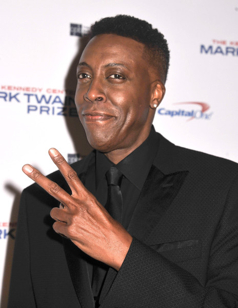 WASHINGTON, DC- OCTOBER 18: Actress and comedian Arsenio Hall poses on the red carpet during the 18th Annual Mark Twain Prize For Humor honoring Eddie Murphy at The John F. Kennedy Center for Performing Arts on October 18, 2015 in Washington, DC.