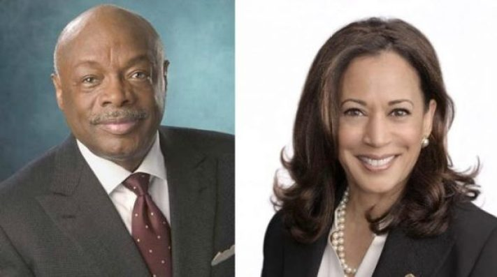 San Francisco Mayor Willie Brown, U.S. Sen. Kamala Harris