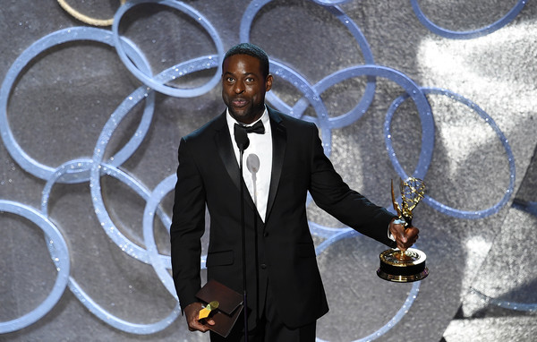Actor Sterling K. Brown accepts Outstanding Supporting Actor in a Limited Series or Movie for 'The People v. O.J. Simpson: American Crime Story' onstage during the 68th Annual Primetime Emmy Awards at Microsoft Theater on September 18, 2016 in Los Angeles, California.