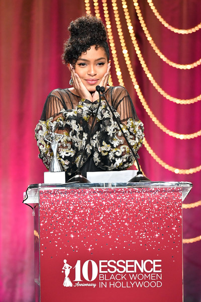 Honoree Yara Shahidi accepts the 'Generation Next' award onstage at the Four Seasons Hotel on February 23, 2017 in Beverly Hills, California.