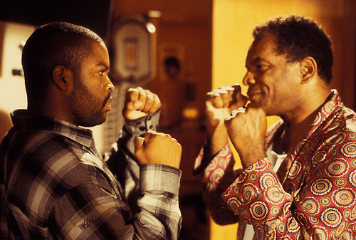 "Ice Cube (L) and John Witherspoon in ""Friday"""